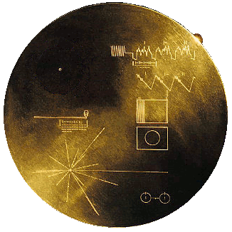 Public Domain Image of Voyager message disc.